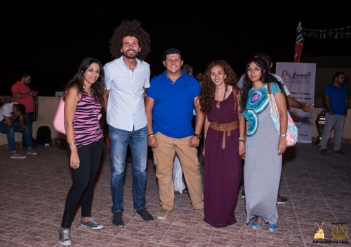 At the SaharaSafaris Club Roof, Omar Samra meeting adventure lovers.